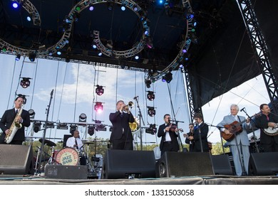 Arrington, VA/USA - 9/5/2014: Preservation Hall Jazz Band performs with the Del McCoury Band at LOCKN' Festival.