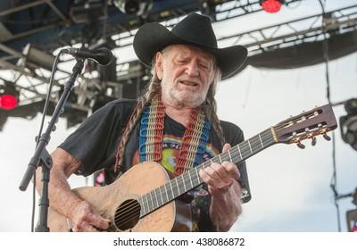 Arrington, VA/USA - 9/7/2014 : Willie Nelson performs at LOCKN' Festival in Arrington, VA.