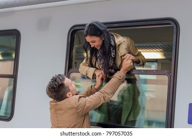 arrival by train