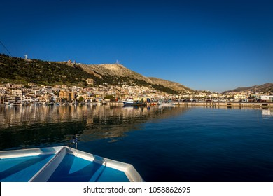 Arrival on the boat to deautiful island of  Kalymnos, famous climbing area in Greece