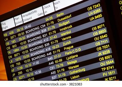 arrival-departure board