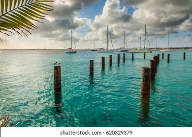 Arriving at Bonaire, captured in the Capital of Bonaire, Kralendijk in this beautiful island of the Netherlands Caribbean , with its paradisiac beaches and water.