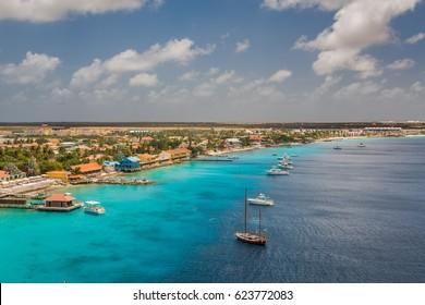 Arriving at Kralendijk, Bonaire.