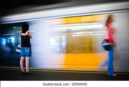Arriving train