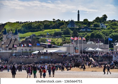 Arromanches, France, 7th June 2014: celebration for 70th anniversary of D-day WW2 in Normandy