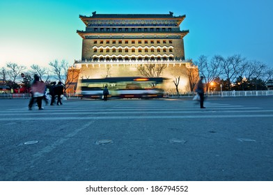 Arror Tower also called Jian Lou in Dongcheng District in Beijing, China