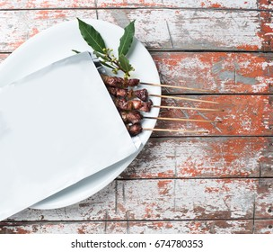 Arrosticini meat for Take away Inside an envelope