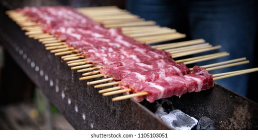 arrosticini of sheep's meat from Abruzzo