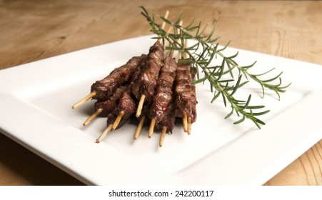 Arrosticini, typical abruzzo food meat