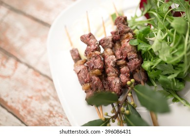 Arrosticini, typical sheep meat food of abruzzo