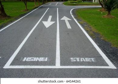 Arrow in both way, start,finish