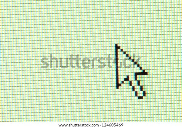 arrow cursor on computer screen
