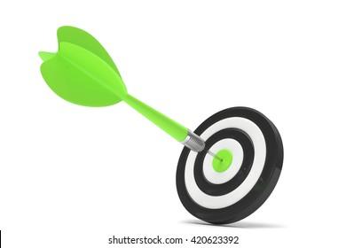 arrow darts in target. 3d rendering.