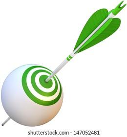 arrow and goal