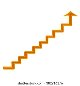 Arrow going up stairs
