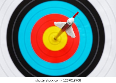 arrow hits the center