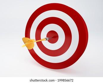 Arrow Hitting The Target. succes concept