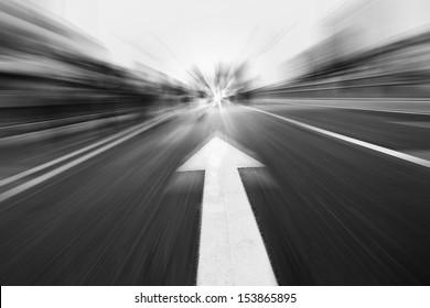 arrow on the road