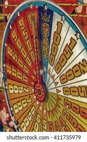 arrow points score arranged radially in fun fair