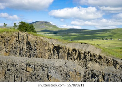 Arrow Quarry and Pen-y-Ghent in the Yorkshire Dales