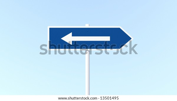 Arrow Sign Post with Mistake (Big Confuse)