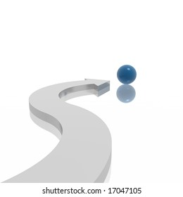 arrow and sphere (blue and silver series)