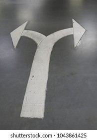 Arrow symbol turn left and turn right in car parking
