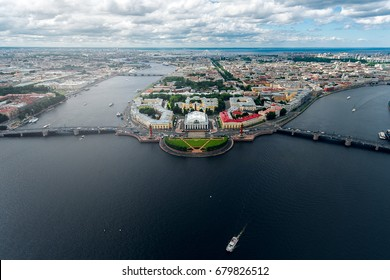 Arrow Vasilievsky Island, Saint Petersburg, Aerial photo