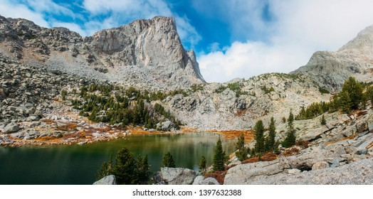 Arrowhead Lake on the Cirque of the Towers Hike in the Wind River Range in Wyoming in Autumn