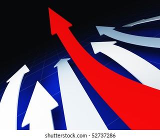 arrows business concept 3d background