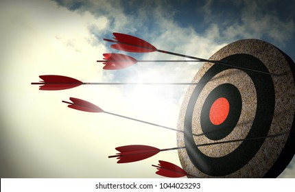 Arrows are not targeted, Failure to attack the target. unsuccessful.