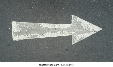 The arrows on the road