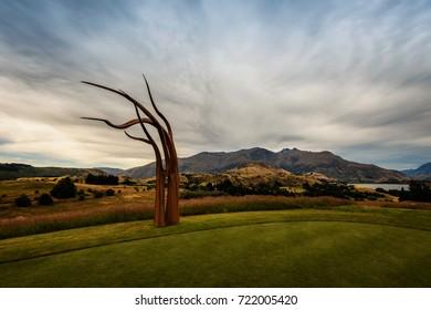 Arrowtown Golf Course Art New Zealand