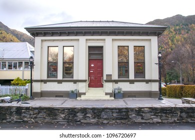 Arrowtown, New Zealand - May 12, 2016: The Lakes District Museum, this award winning museum is appropriately set in the former gold mining town of Arrowtown.