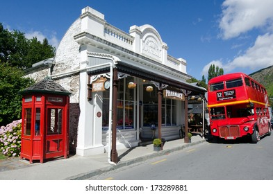 ARROWTOWN,NZ - JAN 17 2017: Arrowtown main street,  a popular travel destination with well preserved buildings used by European and Chinese immigrants dating from the gold rush mining in New Zealand.
