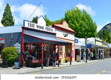 ARROWTOWN,NZ - Nov 17:Arrowtown on Nov 17 2014.It's a popular travel destination with well preserved buildings used by European and Chinese immigrants dating from the gold mining days of the town.