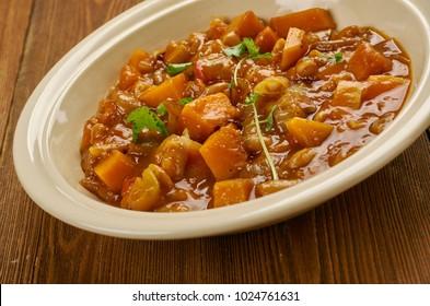 Arroz Con Habichuelas - Puerto Rican Style beans, close up