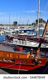 Ars en Re, France - september 26 2016 : boats in the port