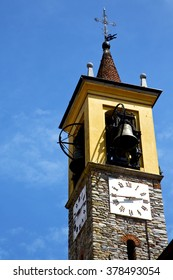 arsago seprio old abstract in  italy   the   wall  and church tower bell sunny day
