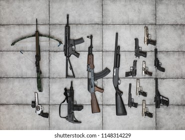 arsenal of firearms