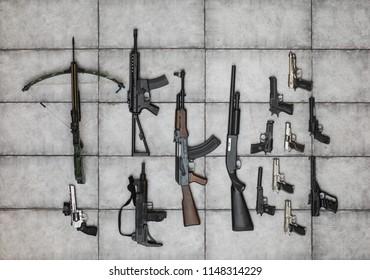 arsenal of firearms