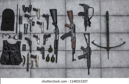 arsenal of firearms,crossbow