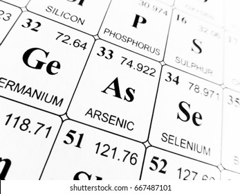 Arsenic on the periodic table of the elements