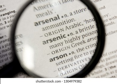 Arsenic word or phrase in a dictionary.