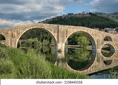 Arslanagic Bridge on Trebisnjica River in Trebinje, Bosnia And Herzegovina