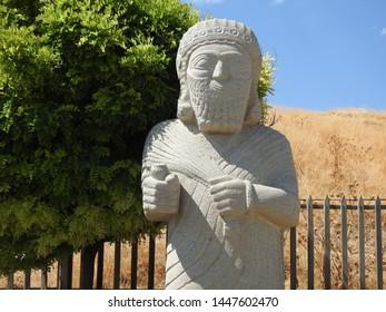 Arslantepe Tumulus, Civilization that was formed 5000 years ago. Malatya City Turkey. ARSLANTEPE MOUND.
