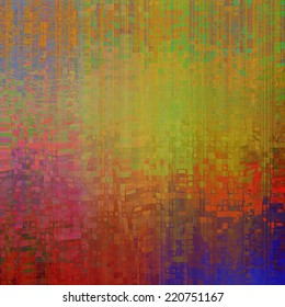 art abstract pixel geometric  pattern background in red, gold and rainbow colors