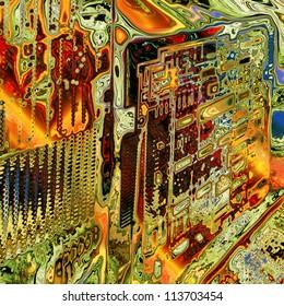 art abstract rainbow geometric pattern background