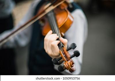 Imágenes, fotos de stock y vectores sobre Violinist Boy