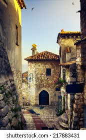 art beautiful mediterranean old town of Provence